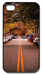 Apple iPhone 4 4s Case,iPhone 4 4s Cases - Autumn in City PC Custom iPhone 4 4s Case Cover for iPhone 4 4s - Black...