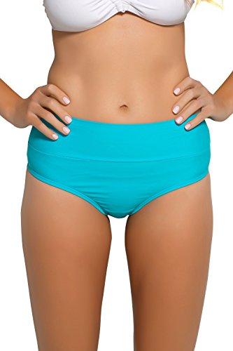 Hapari Turquoise Tummy Tuk Swim Bottom - M