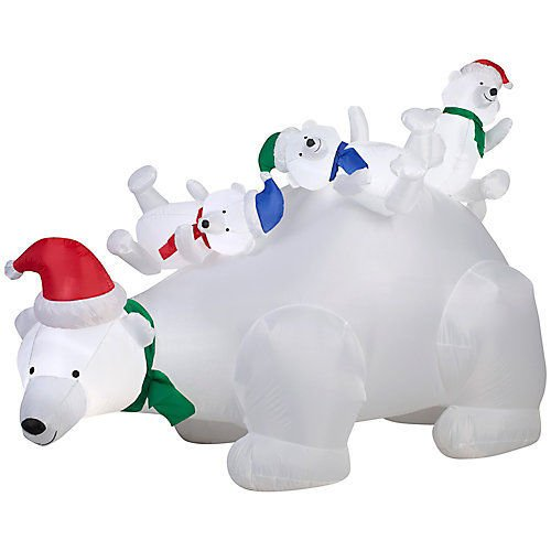 Outdoor Lighted Polar Bear Decorations - 9