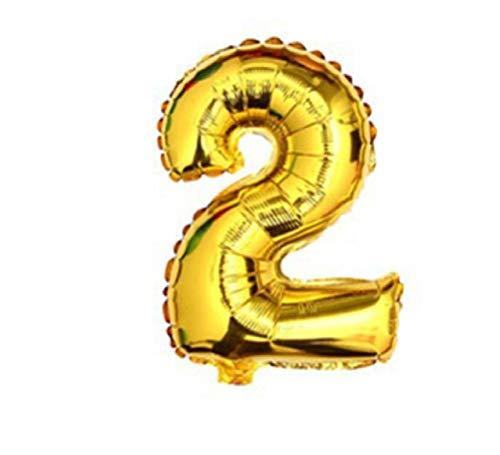 Crystalbella Decor 1pcs 16 Inch Silver Gold Number Balloon Aluminum Foil Helium Balloons Festive -