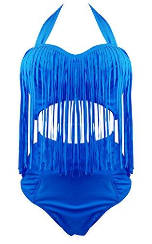 Cocoship Fringe Vintage Swimwear Swimsuit