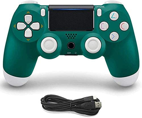 Game Controller for PS4 Wireless Gamepad for PS4/PS4 Pro/PC and Laptop with Vibration and Audio Function, Mini LED Indicator, High-Sensitive Controller with Anti-Slip(Alpine Green)