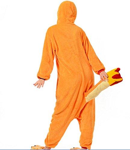 Hombres-adultos-Mujeres-Unisex-Charmander-Animal-traje-de-Cosplay-pijama-Pelele-Kigurumi-Nonopnd-siegner-en-mamelucos-Halloween-baratos-traje-de-disfraz