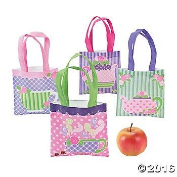 Mini Tea Party Tote Bags
