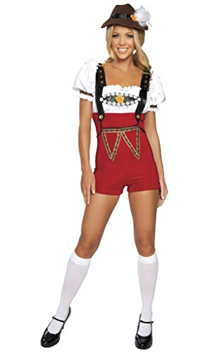 Red Cocktail Waitress Costumes (Sexy Pin Up Beer Maiden Halloween Costume)