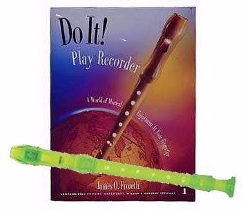 Recorder Pack: Yamaha Green Soprano Recorder with Do It! Play Recorder! Book & CD