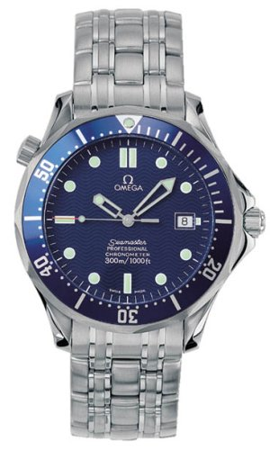 Omega Seamaster Mens Blue Dial Stainless Steel Automatic ...