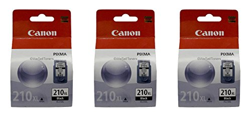 3 Pack Canon PG-210 XL Black Ink Tank