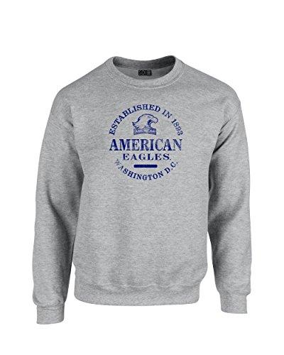 NCAA American University Eagles Unisex NCAA 50/Blended 8 oz. Crewneck Sweatshirt XL