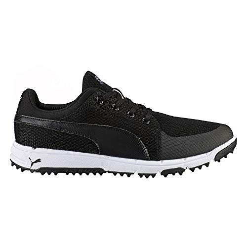 PUMA Mens Grip Sport Tech Golf Shoes 13 Black/White
