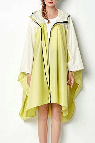 Yacun Les Jaune Impermable Le Impermable Impermables Veste Femmes Poncho Extrieur RRB7rwdq
