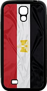 Rikki KnightTM Egypt Flag Design Samsung? Galaxy S4 Case Cover (Black Hard Rubber TPU with Bumper Protection) for Samsung Galaxy S4 i9500