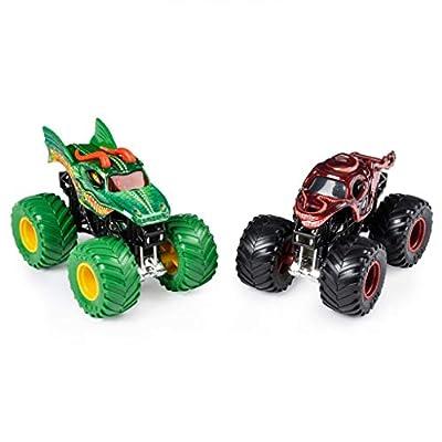 Monster Jam, Official Dragon vs. Octon8er Die-Cast Monster Trucks, 1:64 Scale, 2 Pack: Toys & Games