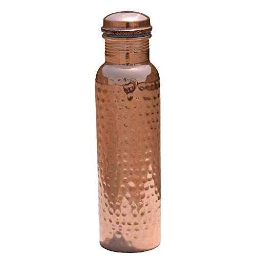 Pure Copper Hammered Bottle  Hold  water (32 Ounce) | Copper Bottle With No Joint Leak Proof | Copper Water Bottle for Ayurvedic Health Benefits