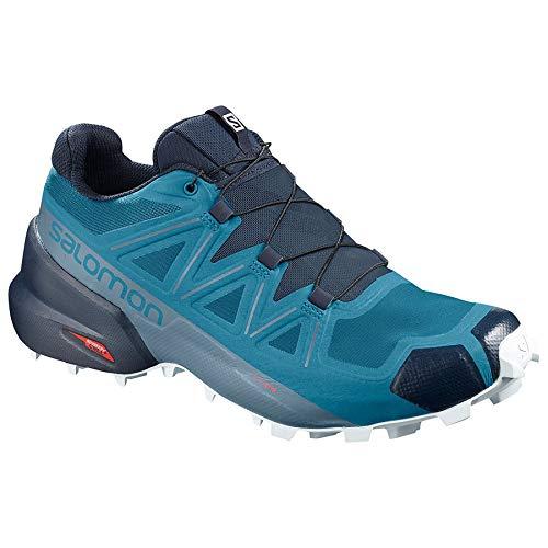 Salomon Speedcross 5 - Men's, Fjord Blue/Navy Blazer/Illusion Blue, Medium, 12, L40925800-12