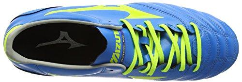 Mizuno Morelia Neo Kl Mix, Botas de Fútbol para Hombre Azul - Blue (Diva Blue/Safety Yellow)