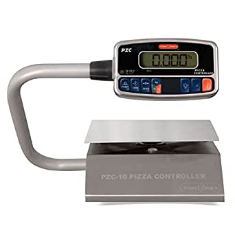 TORREY PZC5/10 Electronics Portion Control Scale, Large LCD Display, Rechargeable Battery, Tare Function, 5 kg/10 lb, Stainless Steel