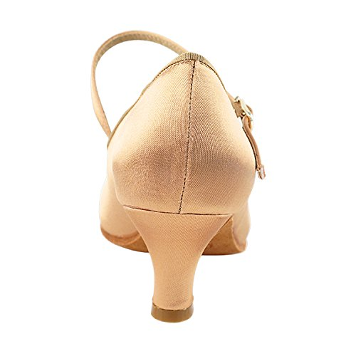 Dress Party Heel Latin Tango Shoes Available Tan Pigeon by Party Ballroom Women Swing Satin 50 Collection Shoes Shades Theather Art Salsa S9138 Dance of Mid Vegan Vegan Practice Gold aA8qgwYg