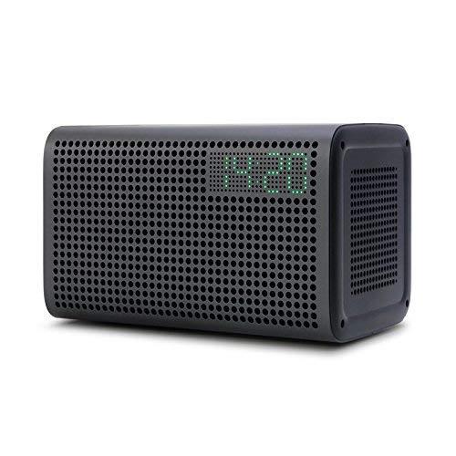 XtremeMac GGMM E3 (Wireless Bluetooth + Wi-Fi Speaker with Clock) Gray ES-201-6, Clear (Best Airplay Alarm Clock)