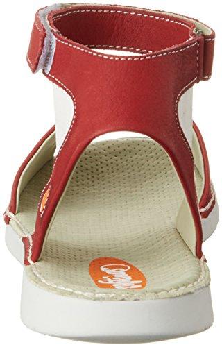 Softinos Tia385sof Smooth - Sandalias con cuña Mujer Rot (Red)