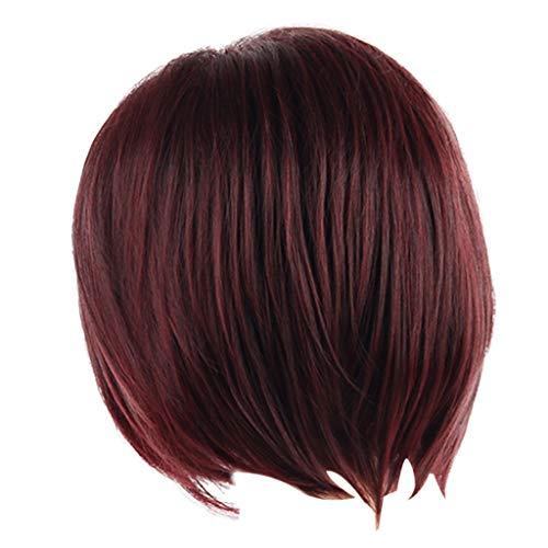 Wigs,Sexy Women Short Red Wine Wigs/BOBO Natural Wig Party Synthetic Fashion Wigs