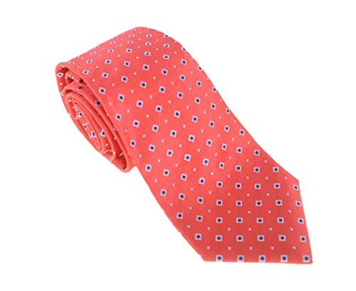 cesare-attolini-napoli-salmon-red-diamond-motif-handmade-silk-necktie