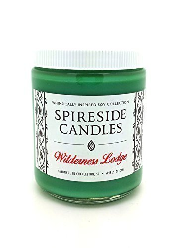 Wilderness Lodge ® Candle - Spireside Candles - Disney Candles - Scented Soy Candle, 8 oz Jar