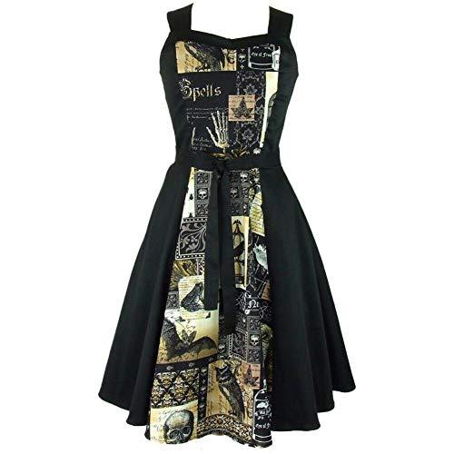 Poe Circle - Hemet Women's Edgar Allen Poe Inspired Full Circle Dress 2XL Black