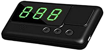 Kingneed GPS Vehicle Speed Head-Up Display, Speedometer Tracker with driving time and distance display C60
