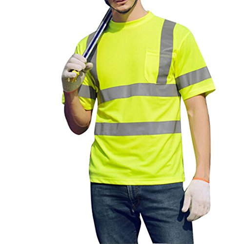 T-shirt High Visibility Lime Green Class 2 T-shirt with Reflective Stripes (XL)