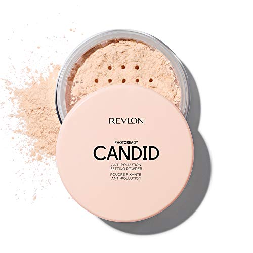 Revlon PhotoReady Candid Setting Powder, with Anti-Pollution, Antioxidant Ingredients, without Parabens, Pthalates and Fragrances; Shade Light.34 Fluid Oz
