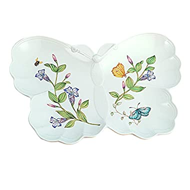 Lenox Butterfly Meadow Hors D'Oeuvre Plate, White