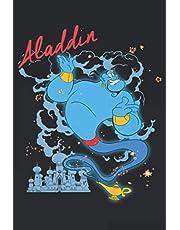 Disney Aladdin Genie Smoke Sparkle Premium: Notebook Planner -6x9 inch Daily Planner Journal, To Do List Notebook, Daily Organizer, 114 Pages