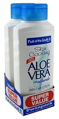 Fruit Of The Earth Bogo Lotion Aloe Vera Skin Cooling 11 Ounce (325ml)