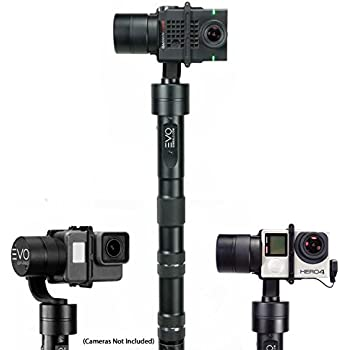 EVO GP-PRO 3 Axis GoPro Gimbal for Hero3, Hero4 or Hero5 Black, Garmin Virb Ultra30, Yi 4K+ - 1 Year USA Warranty