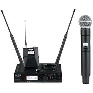 shure ulxd124 85 wireless mic system combo with sm58 and wl185 microphones musical. Black Bedroom Furniture Sets. Home Design Ideas