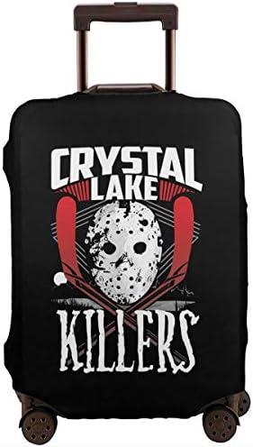 スーツケースカバー キャリーカバー Crystal Lake ラゲッジカバー トランクカバー 伸縮素材 かわいい 洗える トラベルダストカバー 荷物カバー 保護カバー 旅行 おしゃれ S M L XL 傷防止 防塵カバー 1枚