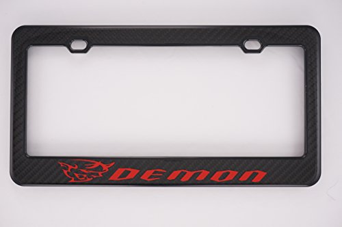 Demon Carbon Fiber License Plate Frame For Srt