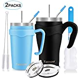 Best Coffee Thermos With Straws - 30oz and 20oz Tumbler with Straw, 2 Packs Review