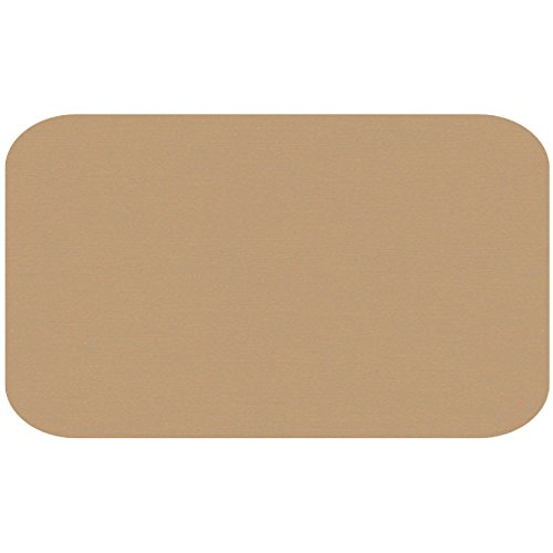 Colonial Cards: 150 Color Cardstock 3'' x 5'' Index Cards, Kraft, Unruled with Rounded Corners by Colonial Cards