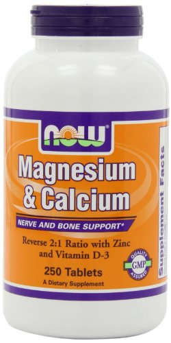 NOW Foods Magnesium and Calcium Reverse, 250 Tablets