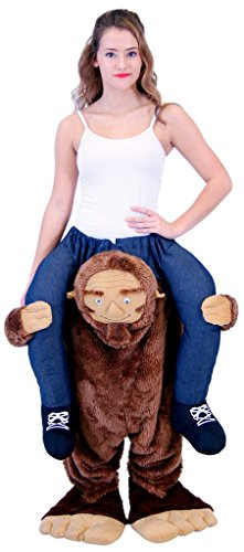 Costume Agent Men's Piggyback Sasquatch Ride-On Costume, Sasquatch, Adult Plus
