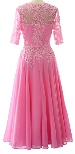 Formal Women Sleeve Macloth Red Neck Mother Bride Gown Wedding Wine Of Party Dress With V qX4AB4xd
