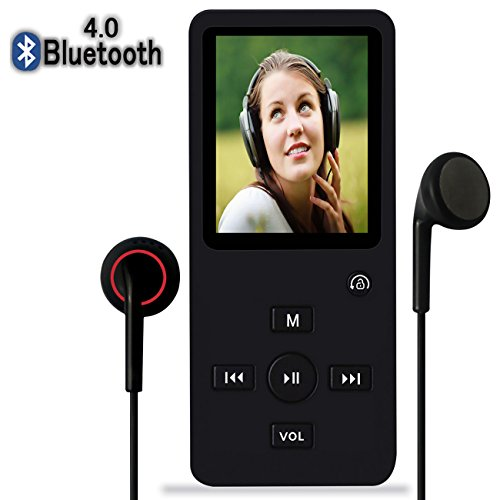 MP3 Player with Bluetooth,8GB Bluetooth MP3 Music Player with FM Radio/Speaker,Lossless Sound,Support Shuffle,Voice Recorder,Video,Photo,EBook,Pedometer for Running Walking by Newiy Start