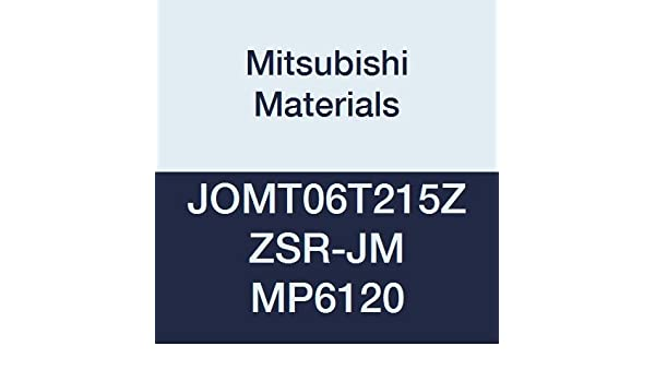 Case of 10 0.125 Thick Grade MP7140 Coated 0.079 Corner Radius Class M Chamfer and Round Honing Mitsubishi JOMT080320ZZSR-JM MP7140 Carbide Milling Insert 0.315 Inscribed Circle