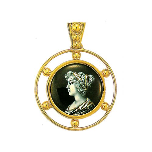 Souvenirs de France - Pendentif Émail de Limoges Style 'Antique'