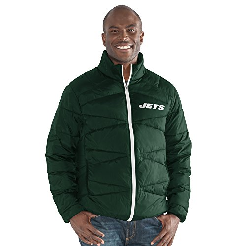 (G-III Sports NFL New York Jets The Blitz Full Zip Packable Jacket, Small, Green)