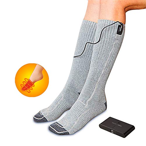DYHQQ Rechargeable Electric Heated Socks Men Women USB Operate Heat Thermal...