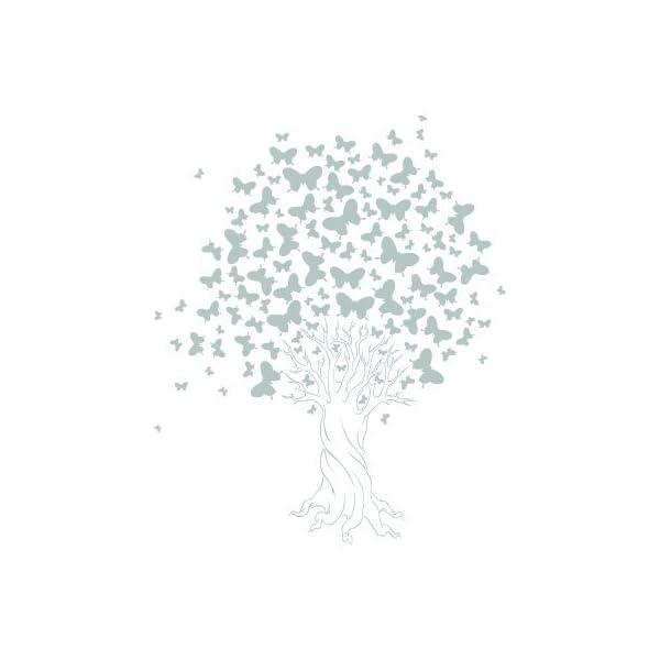 vinilo con mariposas en forma de árbol