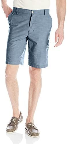 Van Heusen Mens Flat-Front Slub Chambray Short
